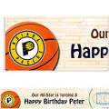 Indiana Pacers Custom Banner 6ft