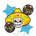 Sugar Skull Balloon Bouquet 5pc