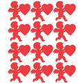 Glossy Red Paper Cupid 11in 12ct