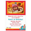 Fisher Price 1st Birthday Custom Photo Invitation
