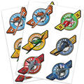 Colorful Planes Tattoos 2 Sheets