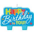 Blue Happy Birthday to You Candle