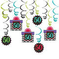Celebrate 50th Birthday Swirl Decorations 12ct