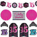 Mis Quince Quinceanera Room Decorating Kit 10pc