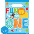 Wild at One Boy's 1st Birthday Favor Bags 8ct