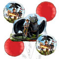 How to Train Your Dragon Balloon Bouquet 5pc