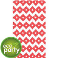 Eco-Friendly Coral Diamond Guest Towels 16ct