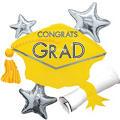 Yellow Star Graduation Cap Graduation Balloon