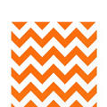 Orange Chevron Lunch Napkins 16ct