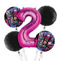 Monster High 2nd Birthday Balloon Bouquet 5pc