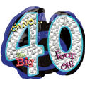 40th Birthday Balloon - Giant Oh No!