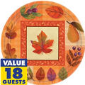 Watercolor Autumn Leaves Fall Party Supplies