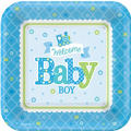 Boy Welcome Baby Party Supplies- Blue Little One