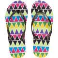 Neon Geometric Flip Flops