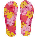 Child Pink Hibiscus Flip Flops