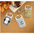 Personalized Bottle Openers - Silver <br>(Printed Epoxy Label)</br>