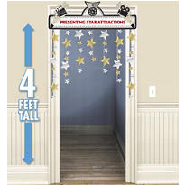 Hollywood Stars Doorway Curtain 48in