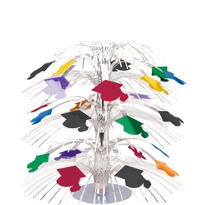 Multicolor Graduation Cascade Centerpiece 8 1/2in