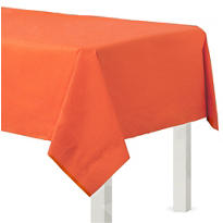 Orange Paper Table Cover