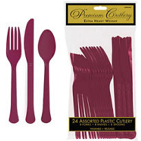 Berry Premium Plastic Cutlery Set 24ct