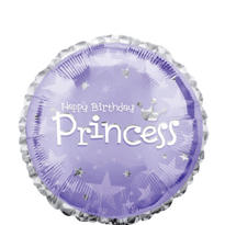 Happy Birthday Balloon - Prismatic Princess
