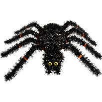 Spider Tinsel Wreath 15in