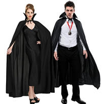 Adult Full Length Black Cape