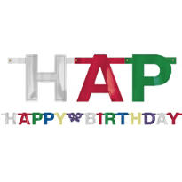Metallic Happy Birthday Letter Banner 4 3/4ft