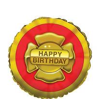 Happy Birthday Firefighter Balloon