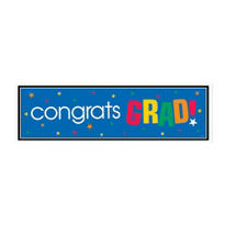 Colorful Graduation Banner 65in