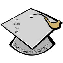 Grad Cap Graduation Invitations 50ct