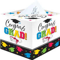 Colorful Graduation Card Holder Box 12in