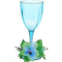 Floral Paradise Cool Plastic Wine Glass 14oz