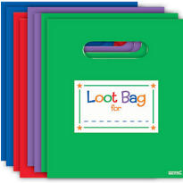 Primary Color Favor Bags Assortment 8ct