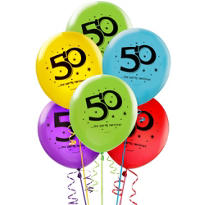 The Party Continues 50th Birthday Balloons
