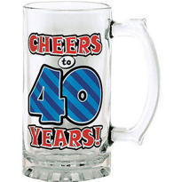 40th Birthday Beer Mug