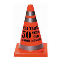 Senior Moment 50th Birthday Safety Cone