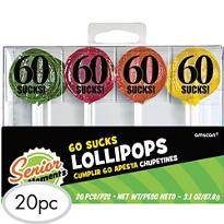60 Sucks Birthday Lollipops 25ct