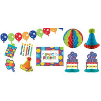 Birthday Fever Fun Room Decorating Kit 10pc