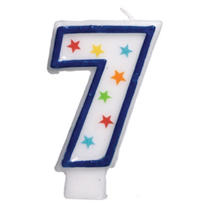 Number 7 Birthday Candle 3in