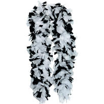 Black and White Deluxe Feather Boa 72in
