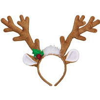 Velvet Reindeer Antlers Headband