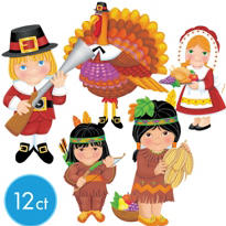 Thanksgiving Season Assorted Value Pack Cutouts 12ct