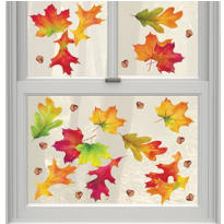 Autumn Breeze Vinyl Window Decorations 12ct