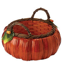 Large Pumpkin Basket 12in