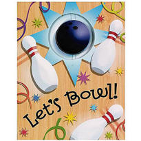 Let's Bowl Invitations 8ct