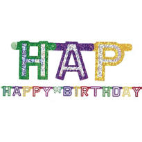 Prismatic Happy Birthday Letter Banner 4 1/2ft