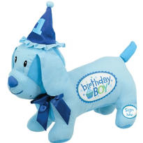 Boy's 1st Birthday Autograph Pup