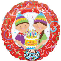 Feliz Cumpleanos Balloon - Singing Kids