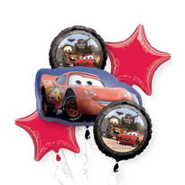 Cars Lightning McQueen Balloon Bouquet 5pc